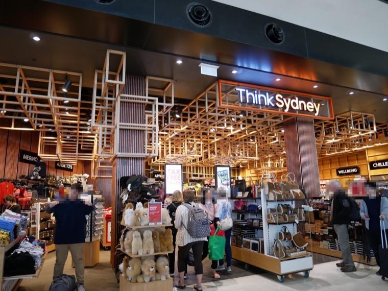 シドニー国際空港内のおみやげやさん