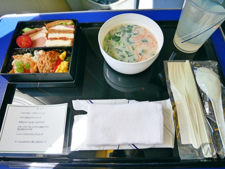 ANA国内線プレミアムクラスの朝食